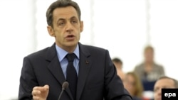 Виступ президента Франції Ніколя Саркозі перед Європарламентом, Страцбург, 16 грудня 2008 р.