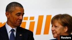 Barack Obama i Angela Merkel u Hanoveru u aprilu ove godine