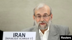 محمد جواد لاریجانی، نماینده رسمی جمهوری اسلامی در جلسه ادواری شورای حقوق بشر سازمان ملل