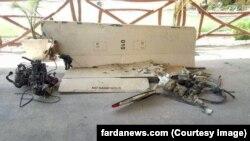 وبسایت فردا این تصویر را به عنوان عکسی از لاشه پهپاد سرنگون شده در پاکستان منتشر کرده است.
