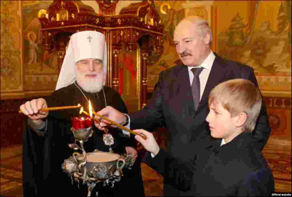 Lukashenka, Kolya, and Metropolitan Paval of Minsk and Slutsk