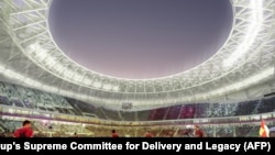 O imagine generată de computer pentru viitoarea Cupă Modială din Qatar