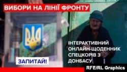 На фото: Голосування на домо у Новотроїцькому, що на Донеччині, 21 квітня 2019 року