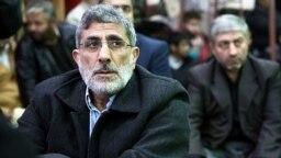 اسماعیل قاآنی، فرمانده کنونی نیروی قدس سپاه، در مراسمی در تهران در دی ماه ۹۳