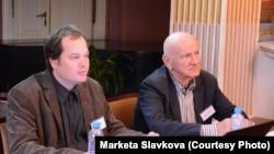 František Šistek (lijevo) i Drago Roksandić sa zagrebačkog Sveučilišta na konferenciji u Pragu