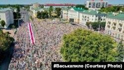 Минск шаарындагы марш, 16-август 2020-жыл.