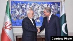 دیدار محمدجواد ظریف با شاه محمود قریشی، وزیر خارجه پاکستان در سال ۱۳۹۷