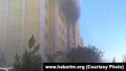 Пожар в жилом доме, Ашхабад (архивное фото)