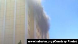 Пожар в Ашхабаде