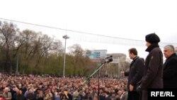 Kişinyovda etiraz aksiyası, 12 aprel 2009