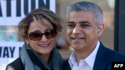 صادق خان و همسرش سعدیه