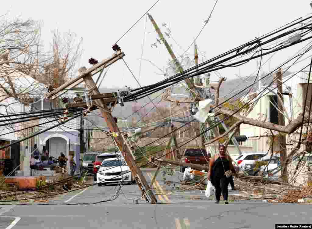Вірджынскія выспы ЗША пасьля ўрагану «Марыя». (Reuters/Jonathan Drake)