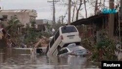 """Наводнение на Филиппинах, вызванное тайфуном """"Хайян"""""""