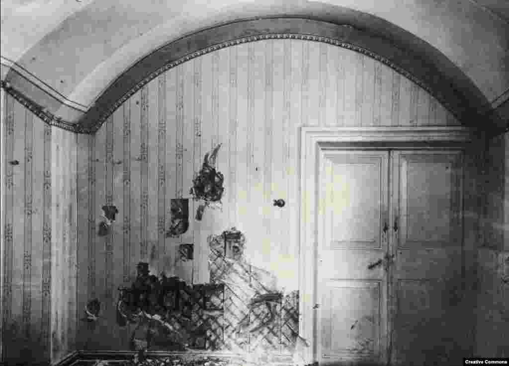 In 1918, the tsar, tsarina, and their five children, along with several servants, were ushered into this cellar then shot and stabbed to death with bayonets by Bolshevik troops.