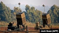 نمایی از سامانه دفاع ضدراکتی گنبد آهنین اسرائیل