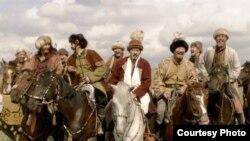 «Біржан сал» кинофильмінен көрініс. Алматы, тамыз, 2009 жыл.