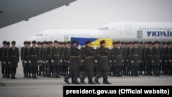 Remains Of Ukrainians Killed In Air Disaster Arrive In Kyiv