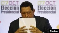 Венесуэла президенті Уо Чавес. Каракас, 10 қазан 2012 жыл.