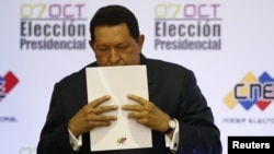 Hugo Chavez was reelected Venezuelan president in October.