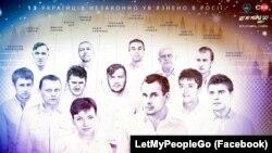 Українці, незаконно ув'язнені у Росії