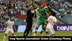 مشهد من مباراة العراق والامارات