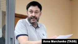 Руководитель «РИА Новости-Украина» Кирилл Вышинский в суде, Киев, 18 июня 2019 года