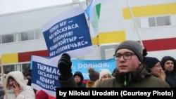 Николай Удоратин во время митинга в защиту языка коми. Архивное фото
