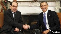 اوباما يستقبل المالكي في البيت الابيض كانون الاول 2011