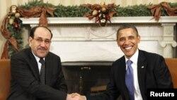 الرئيس اوباما والمالكي في البيت الابيض12/12/2011