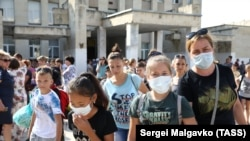 Эвакуация детей в Армянске, 4 сентября 2018 года