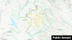 U.S. Geological Survey says a magnitude 6.3 earthquake strikes western Iran near its border with Iraq. source: USGS