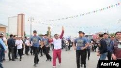 Avropa Oyunlarının məşəli Sabirabadda - 7 may 2015