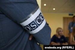 Наблюдатель от ОБСЕ на избирательном участке в Минске
