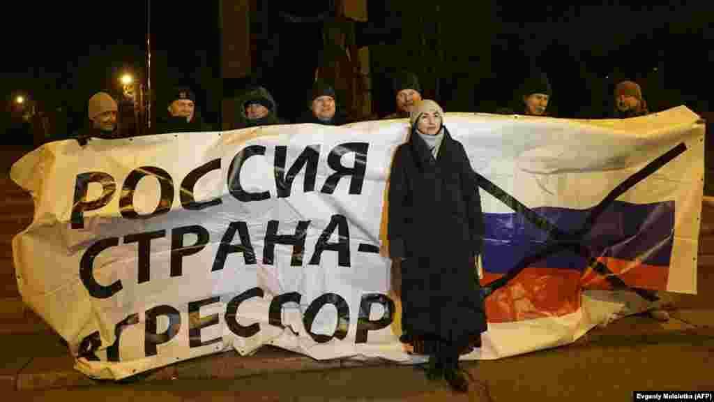 Акція проти агресії Росії та блокади нею Азовського моря. Маріуполь, 28 листопада 2018 року. БІЛЬШЕ ПРО ЦЕ