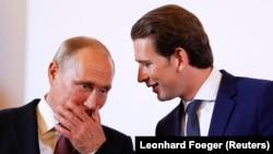 Avstriyanın kansleri Sebastian Kurz və Rusiya prezidenti Vladimir Putin