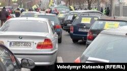 Під час одного з протестів «євробляхерів» у Києві