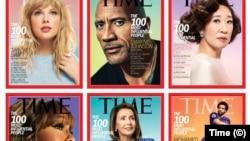 Обложки журнала Time с представителями разных категорий «Самых влиятельных людей мира» в 2019 году.