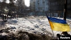 Sa protesta u Kijevu, februar 2014.
