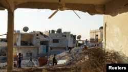 Зруйнований будинок у сирійському місті Наемех, 22 грудня 2015 року