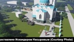 """Эскиз мечети """"Рахматулла"""" на пересечении Симонова и Годовикова"""