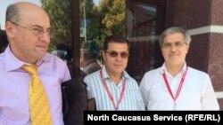 Сирийцы, участники конгресса (слева направо): Шафи Акушали, Абдуразак Хаака, Магомеднур Нидаль Ахмет