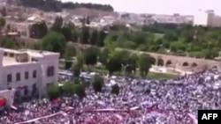 تصویر ویدئویی در یوتویب از تظاهرات روزجمعه در حماه