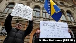 Sa jednog od protesta radnika u Sarajevu (februar 2014), ilustrativna fotografija