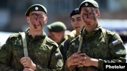 Armenia - Russian soldiers pictured at Erebuni military airfield, Yerevan, 11Jun2015.