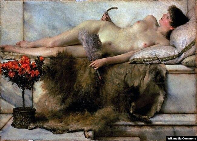 Лоўрэнс Альма-Тадэма «У тэпідырыюме» (1881)