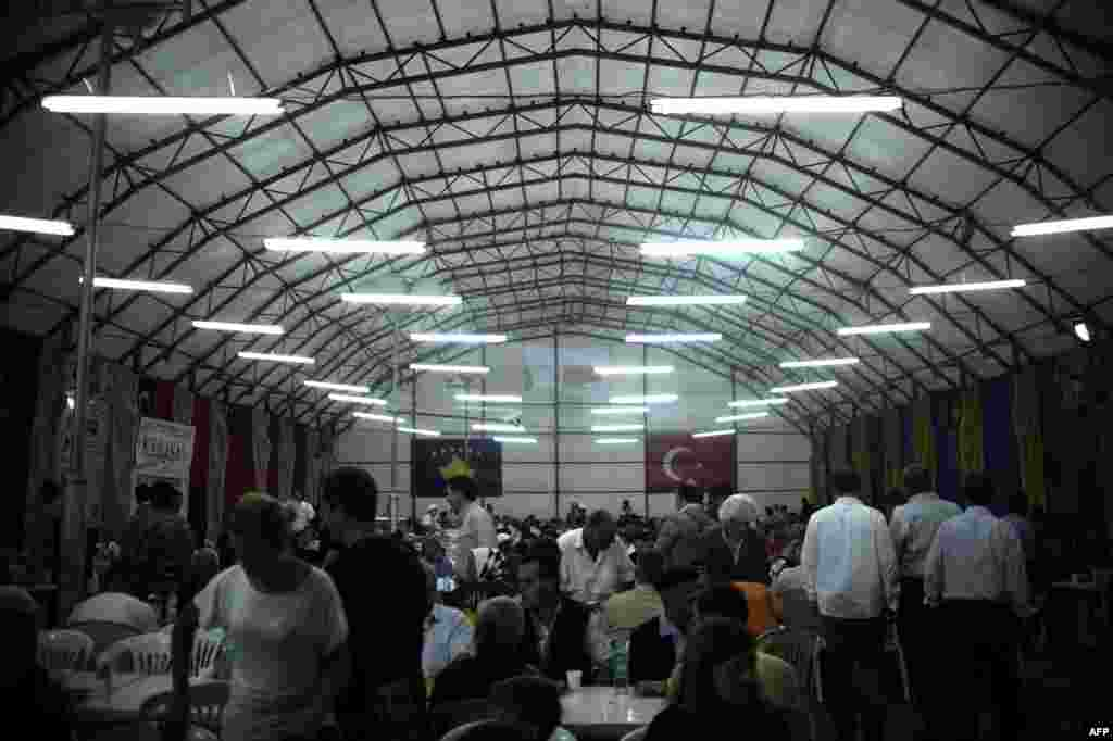 Turkey has sponsored iftar celebrations in Kosovo, its Muslim ally,for a number of years.
