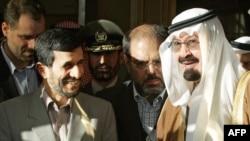 ملک عبدالله پادشاه عربستان و محمود احمدینژاد