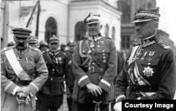 Маршалок Юзеф Пілсудський, генерал Станіслав Шептицький, генерал Станіслав Галлер