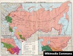 1922 елгы Советлар берлеге харитасы