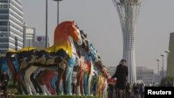 Астананың орталығы. 30 қыркүйек 2015 жыл.